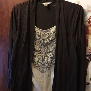 Cardigan w/ Attached Tank
